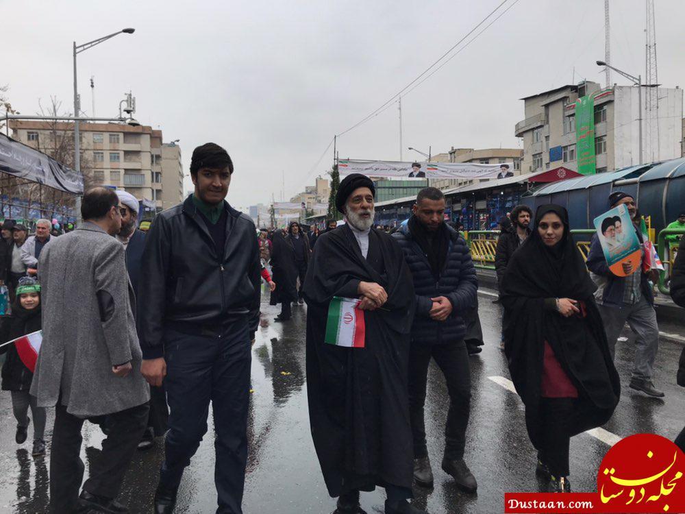 www.dustaan.com رییس جمهور و دیگر چهره ها در راهپیمایی ۲۲ بهمن +تصاویر