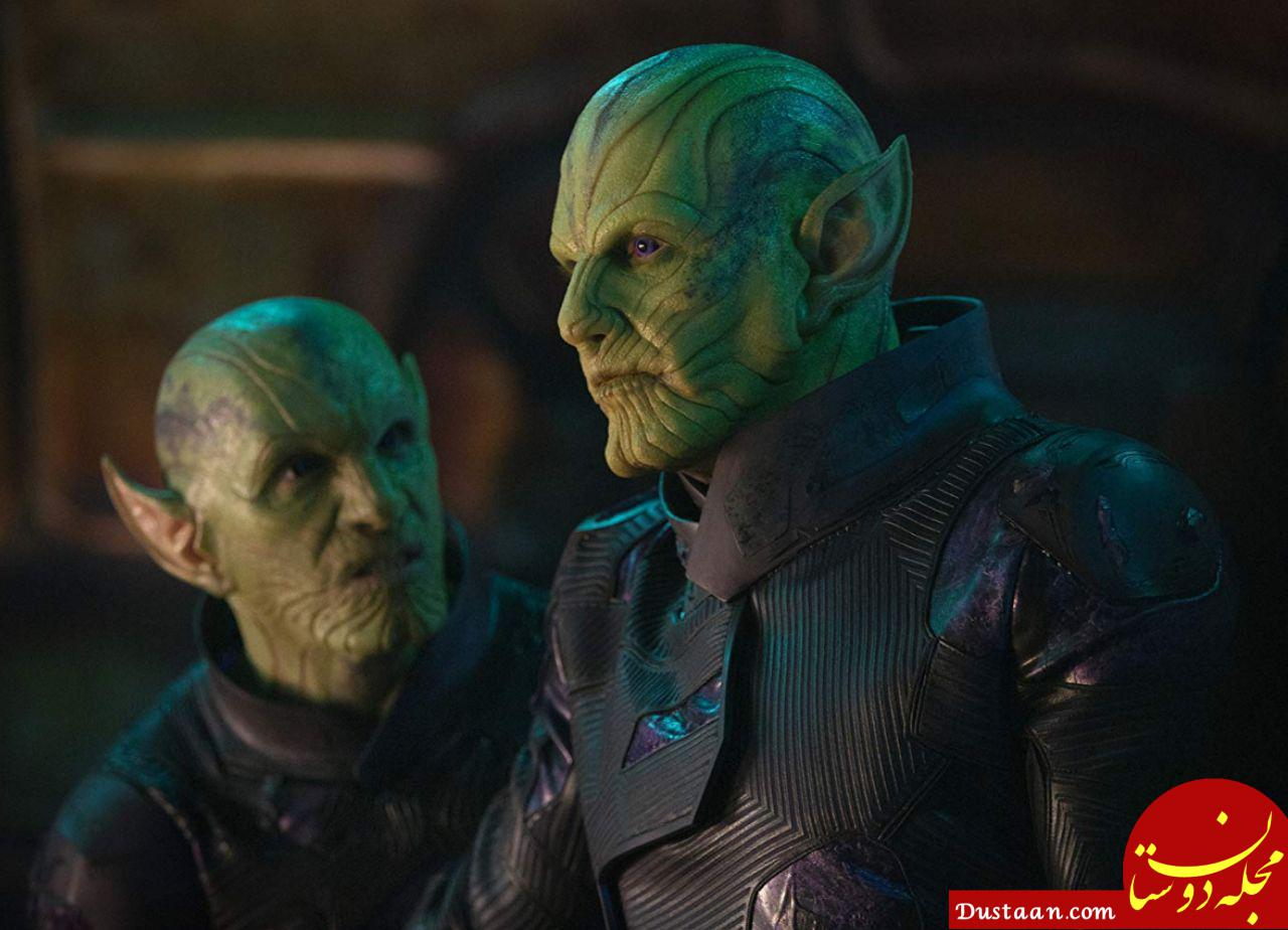 www.dustaan.com گریم عجیب موجودات فضایی در کاپیتان مارول +عکس