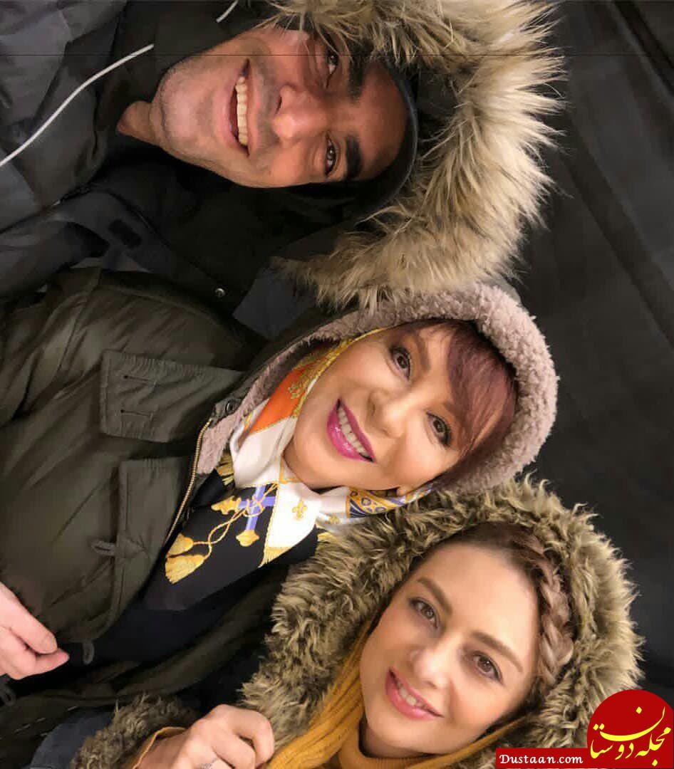 افسانه بایگان در کنار یکتا ناصر و همسرش +عکس