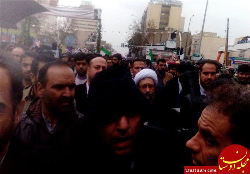 www.dustaan.com حضور رئیس قوه قضائیه در راهپیمایی ۲۲ بهمن +عکس