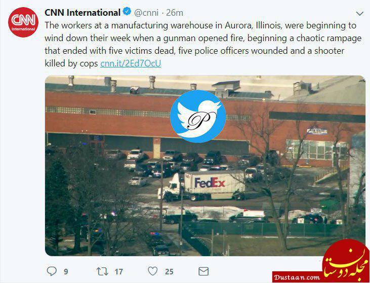 www.dustaan.com تایید مرگ 6 نفر در تیراندازی مرگبار در کارخانه هنری پرات در شیکاگو