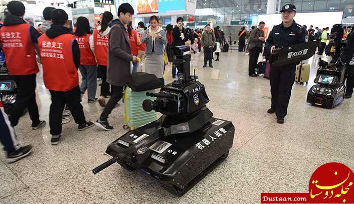 www.dustaan.com رونمایی چینی ها از ربات پلیس! +عکس