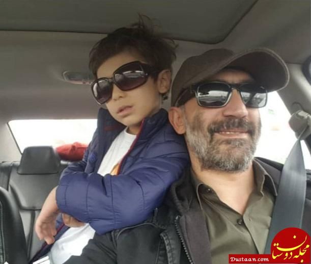 عکس: بازیگر «ماجرای نیمروز» همراه با پسرش
