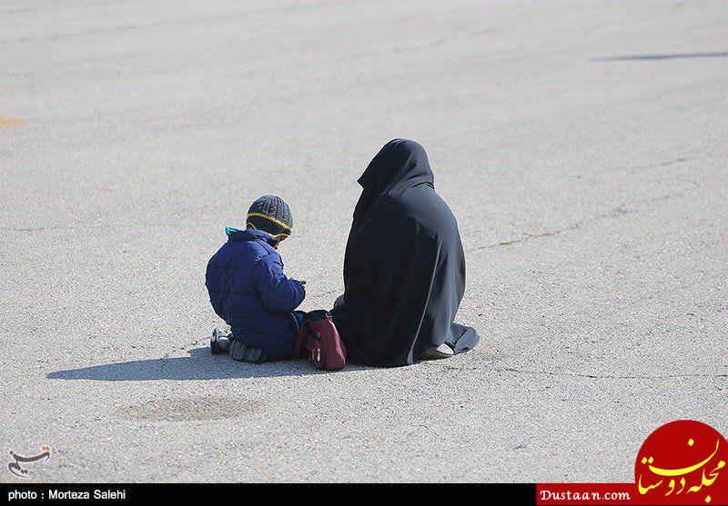 تصویر تکان دهنده همسر و فرزند شهید حمله تروریستی +عکس