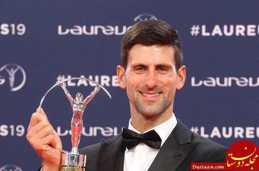 www.dustaan.com نواک جوکوویچ برترین ورزشکار سال جهان شد
