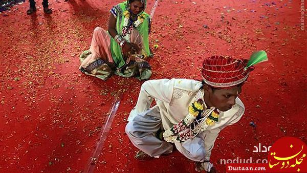 داماد از مراسم عروسی فرار کرد و عروس تنها ماند + عکس