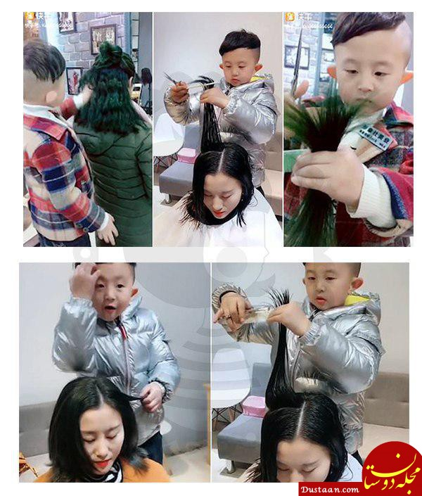 کوچکترین آرایشگر جهان! +عکس