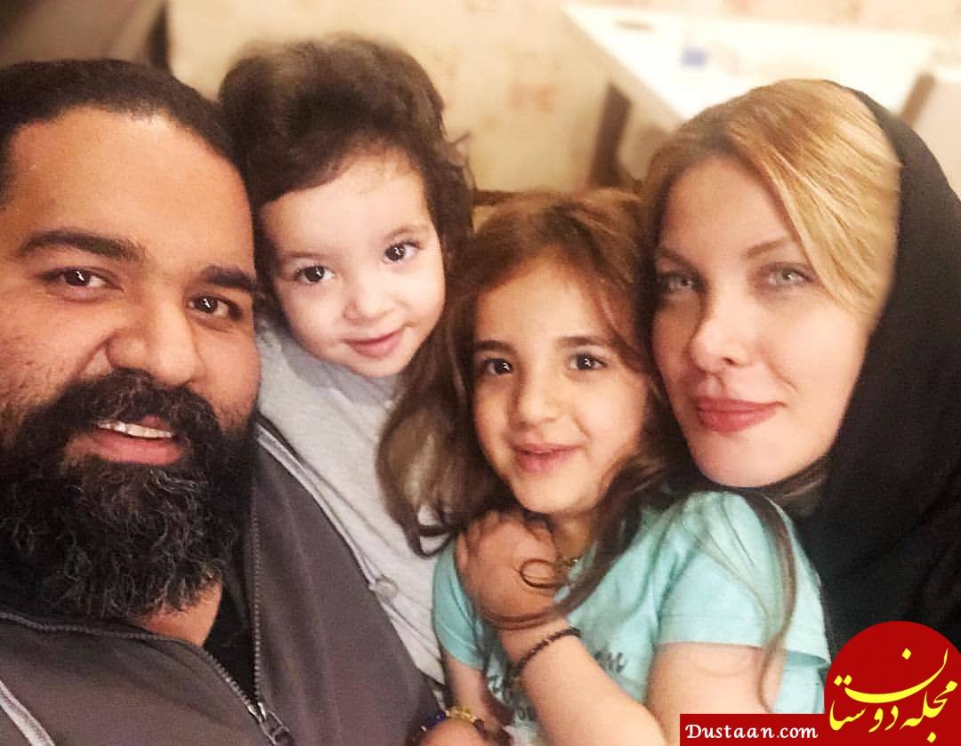 www.dustaan.com بیوگرافی و عکس های رضا صادقی ، همسر و دخترانش تیارا و ویانا