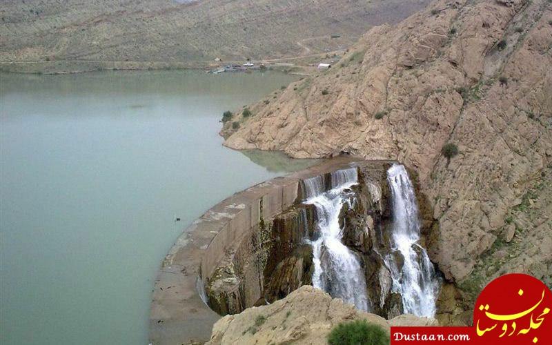 www.dustaan.com سد کبار قم سرریز کرد! +عکس