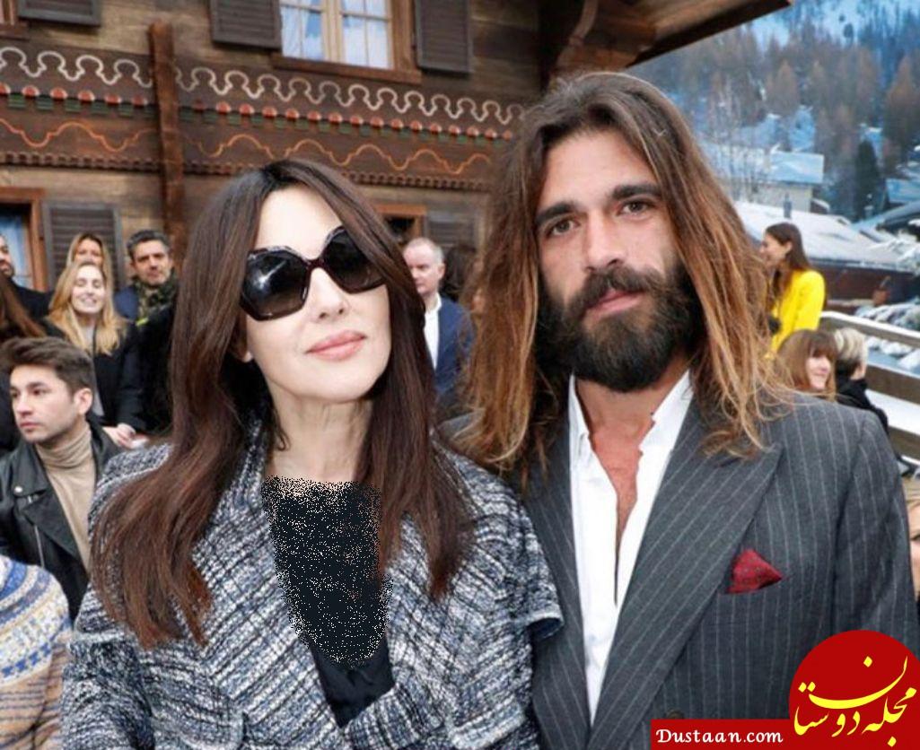 مونیکا بلوچی 54 ساله و نامزد 36 ساله اش! +عکس