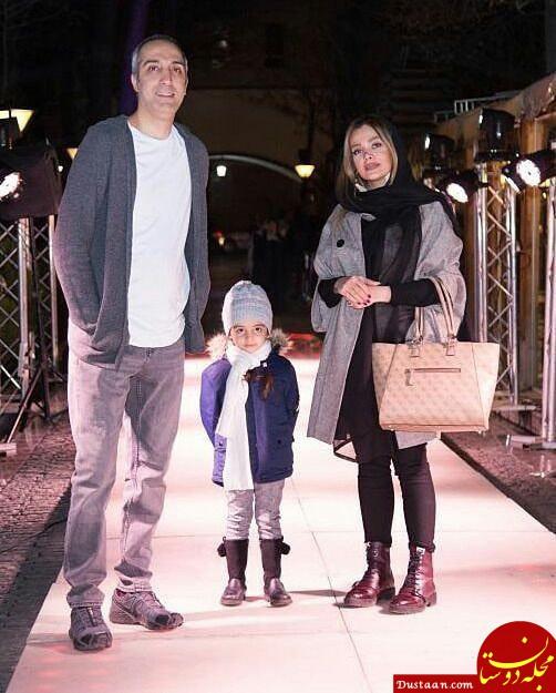 www.dustaan.com امیرمهدی ژوله ، همسر و دخترش گندم در افتتاحیه رستوران سیامک انصاری