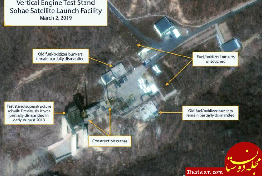 پیونگ یانگ یک سایت آزمایش موشکی را بازسازی کرده است