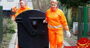 جمع آوری زباله توسط خانم وزیر!