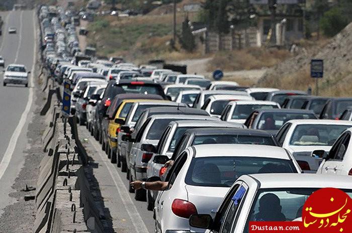 www.dustaan.com ترافیک سنگین در راه های البرز