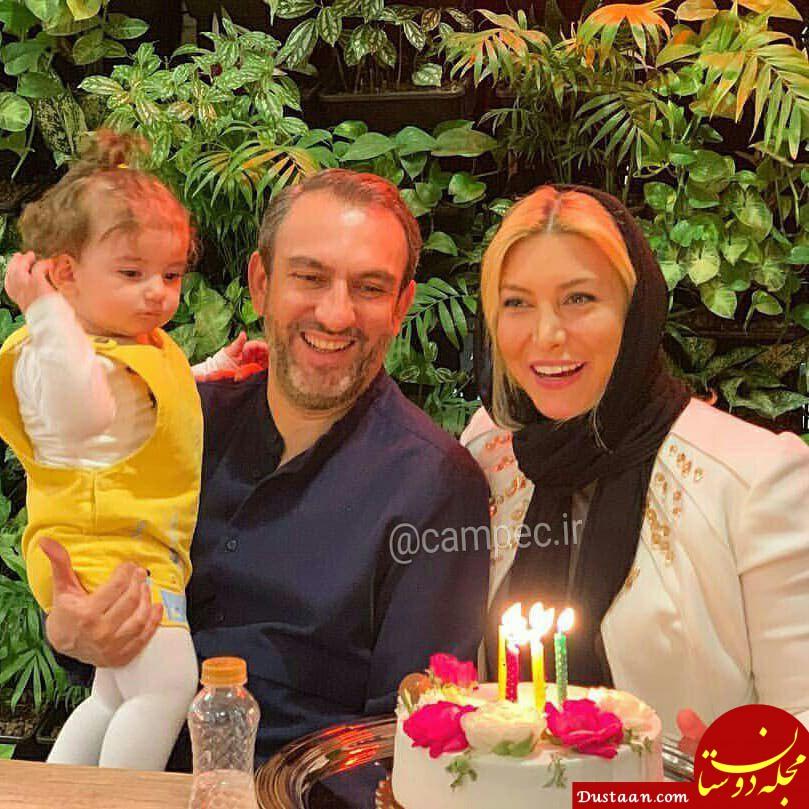 www.dustaan.com فریبا نادری ، همسر و دخترش یارا در تولد ۳۵ سالگی اش