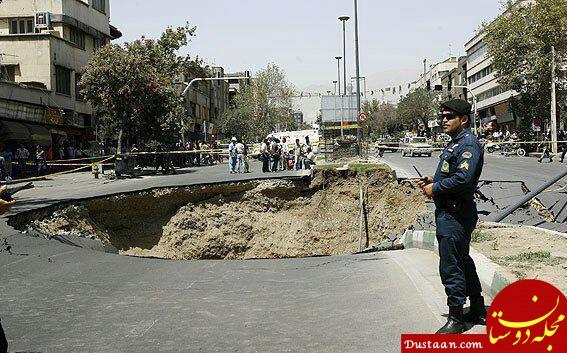www.dustaan.com نشست زمین در اتوبان «نواب» تهران +عکس
