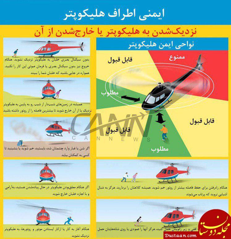 نکات مهمی که باید برای حفظ ایمنی در اطراف یک هلیکوپتر رعایت کرد