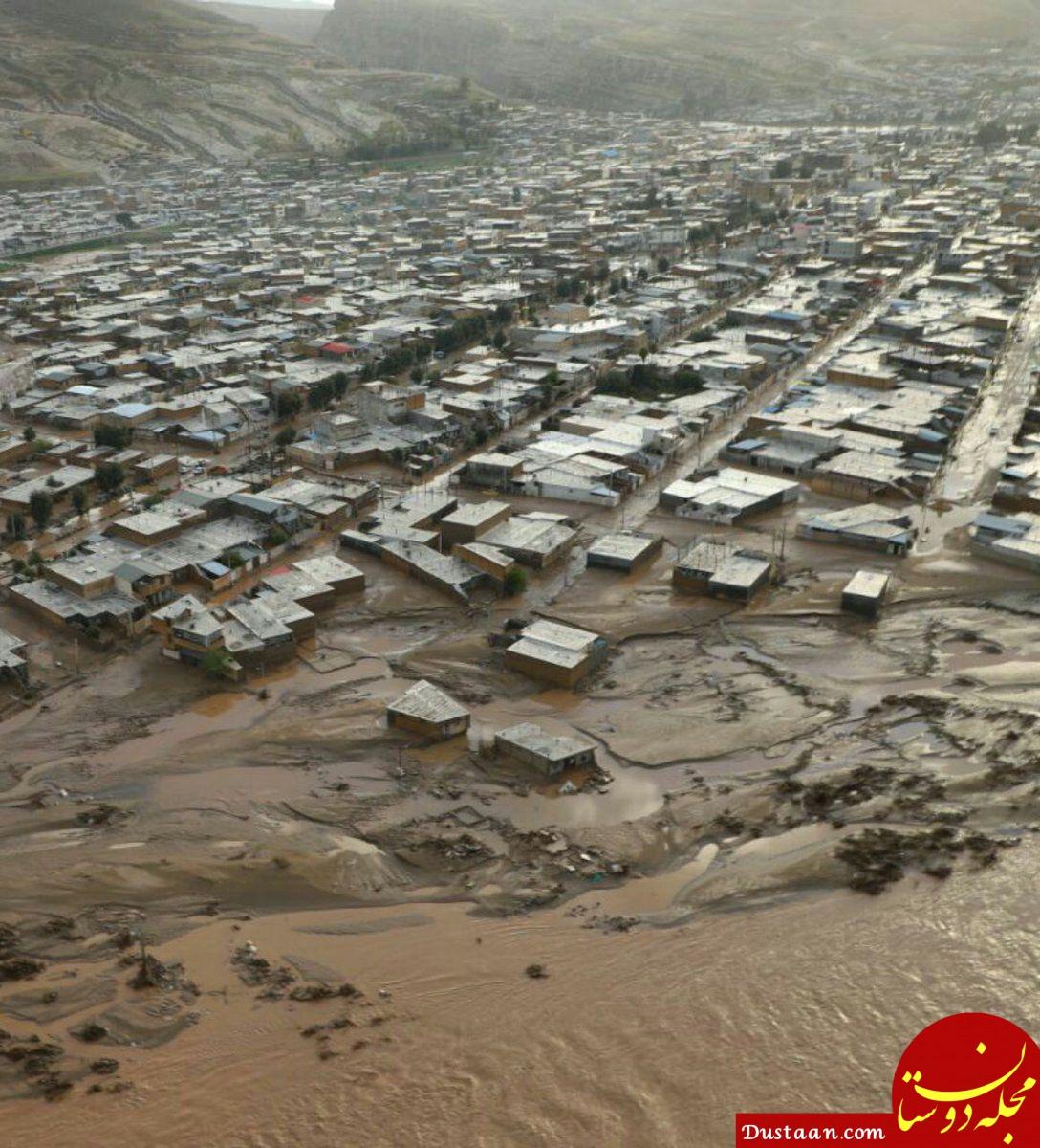 www.dustaan.com پلدختر ۲۴ ساعت پس از سیل، فرورفته در گل و لای +عکس