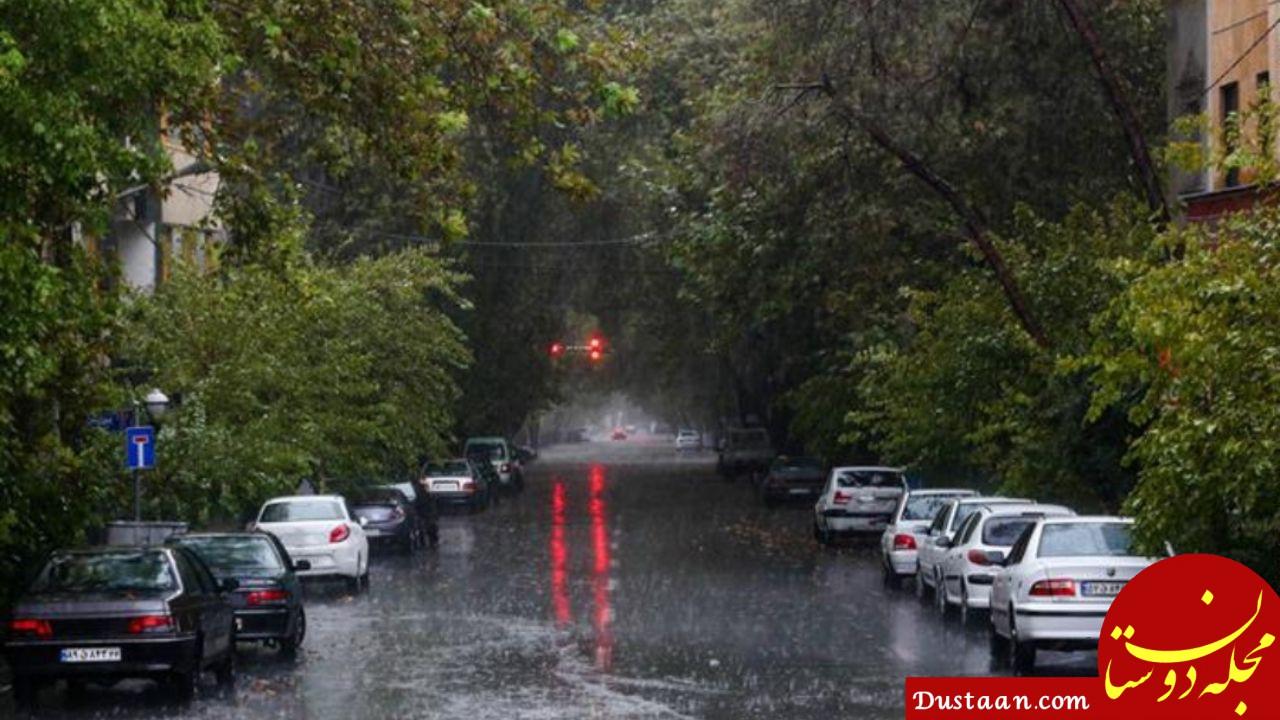 www.dustaan.com تشدید بارش در تهران امشب