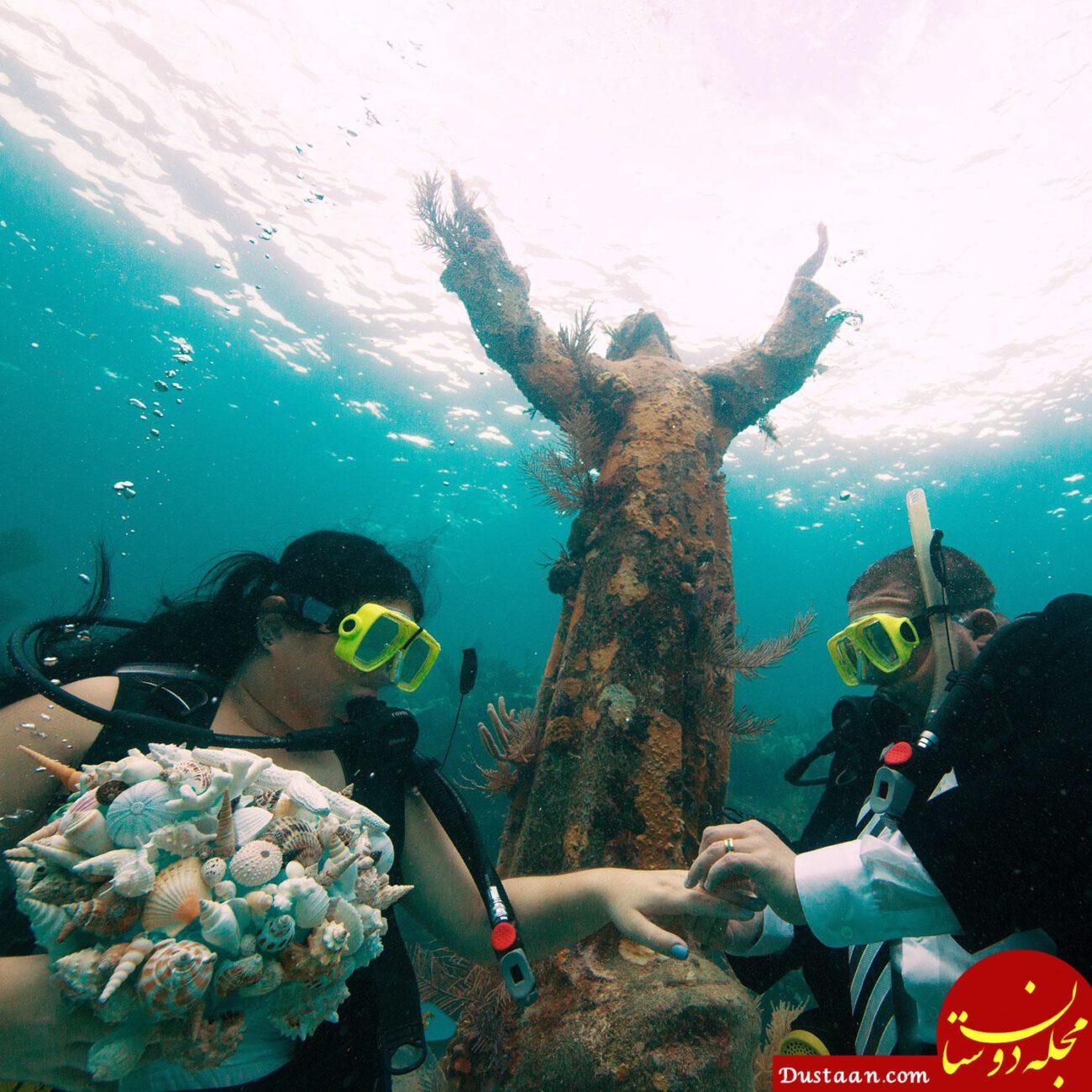 www.dustaan.com ازدواج متفاوت در اعماق دریا! +عکس