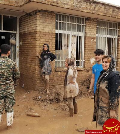 www.dustaan.com ماجرای سانسور عکس خانواده سیل زده چه بود؟