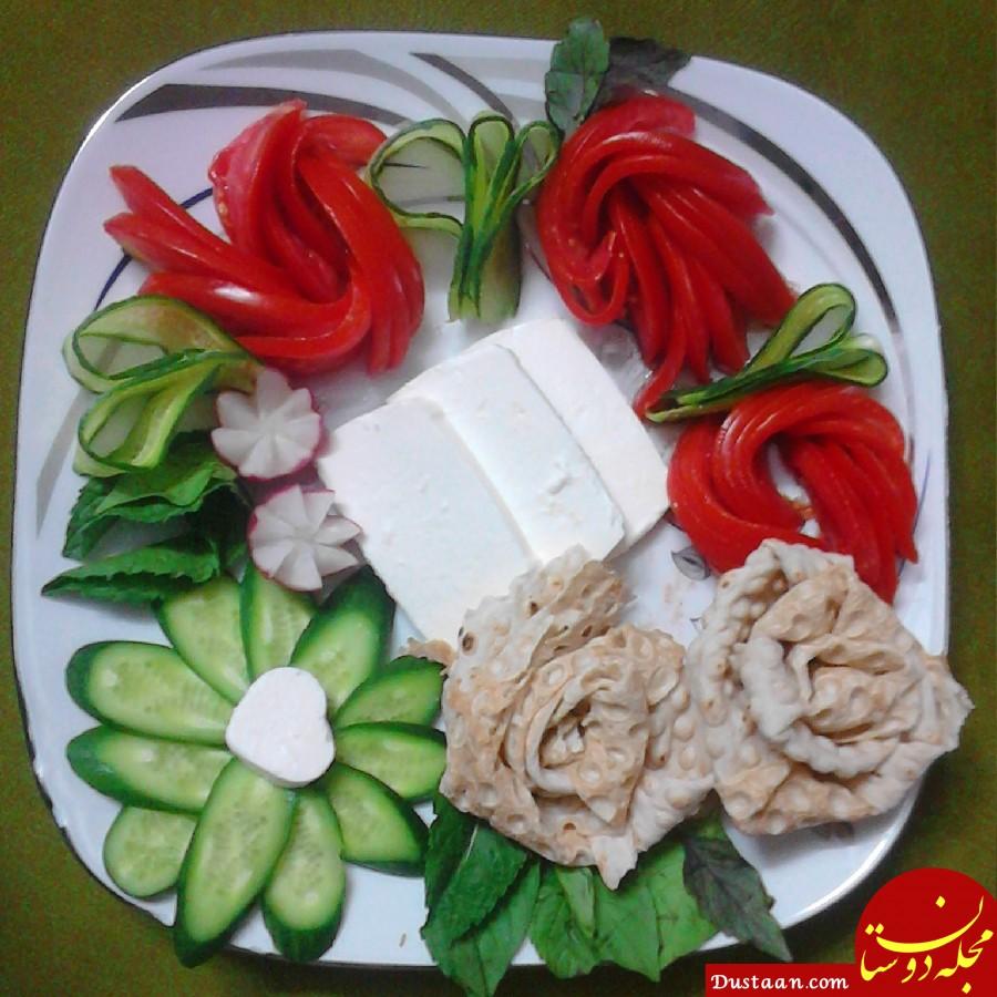 www.dustaan.com نون و پنیر با خیار و گوجه یا هندوانه بخوریم یا نه ؟!