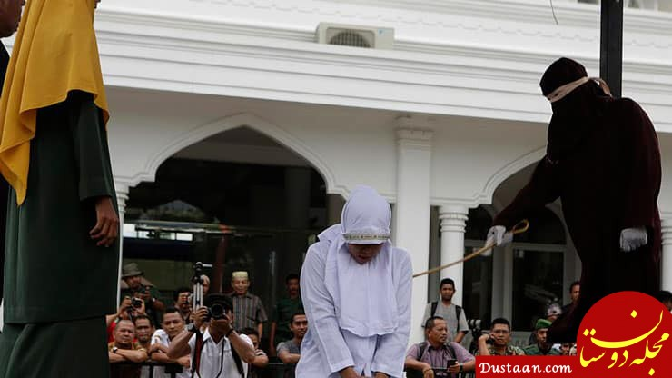 حکم شلاق زن و مرد در اندونزی