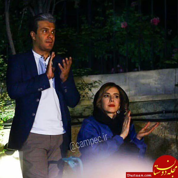 www.dustaan.com - بیوگرافی و عکس های آریا عظیمی نژاد و همسرش