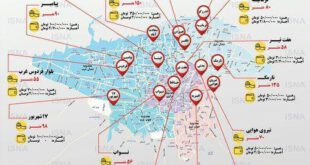 نرخ اجاره مسکن در چند محله تهران