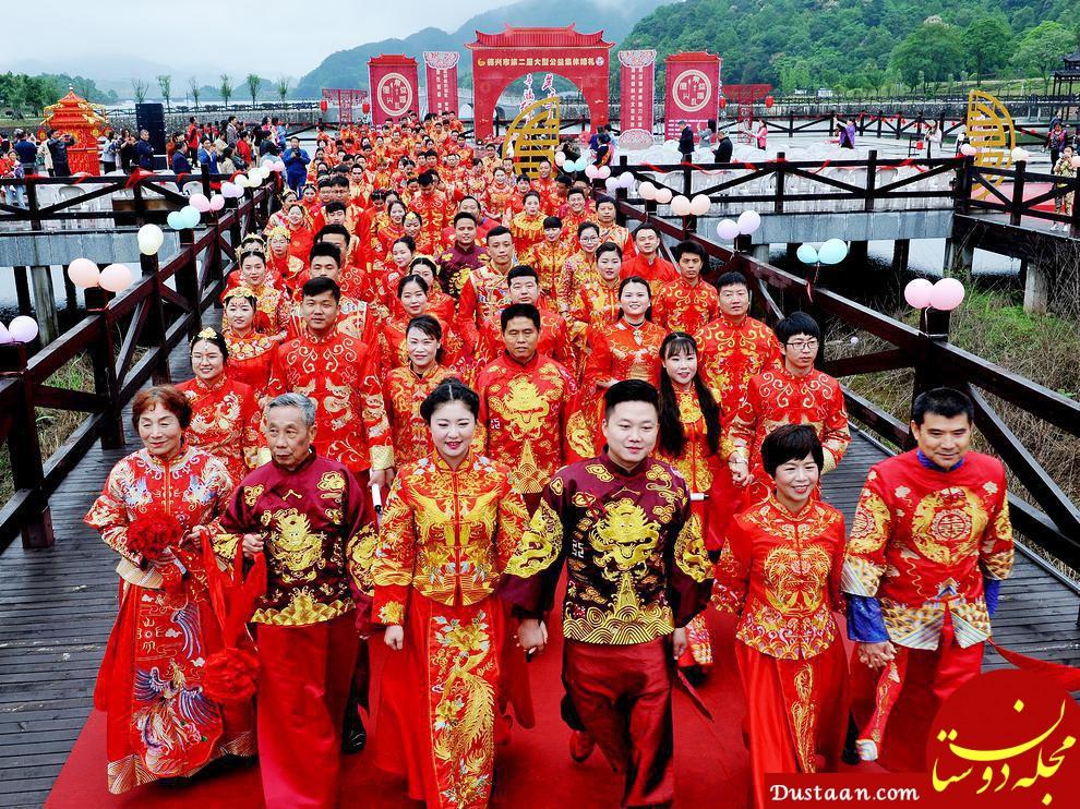 ازدواج دسته جمعی 70 زوج پیر و جوان در یک روز! +عکس