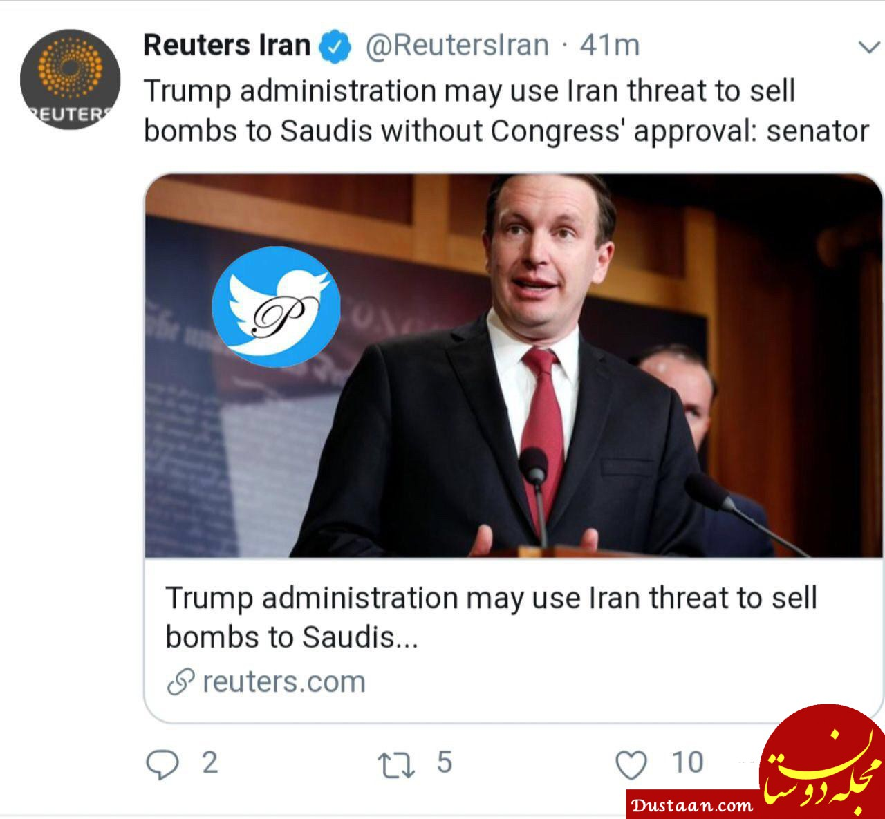 www.dustaan.com ترامپ می خواهد به بهانه تهدید ایران به ریاض بمب بفروشد