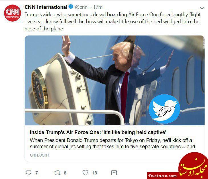 www.dustaan.com مصائب سفرهای خارجی ترامپ برای اطرافیانش؛ نمیخوابد!
