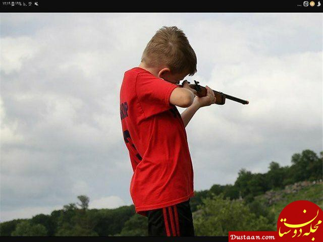 www.dustaan.com مادر جوان ؛ قربانی بازی کودک خود با اسلحه