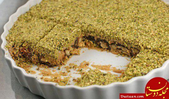 www.dustaan.com طرز تهیه دسر خرما به سبکی خوشمزه و متفاوت