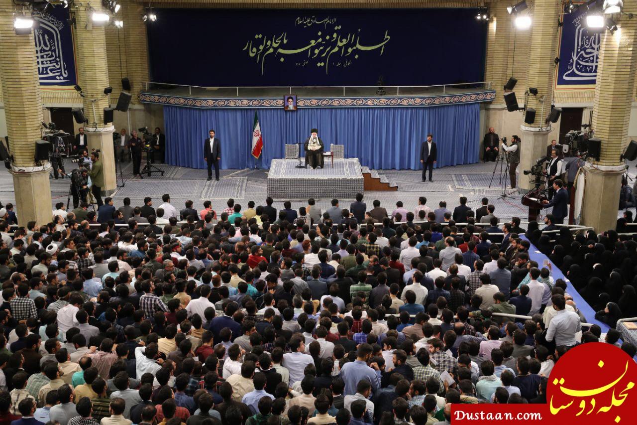 www.dustaan.com پاسخ رهبر انقلاب به دانشجویی که تصویب برجام را به رهبری نسبت داد چه بود؟