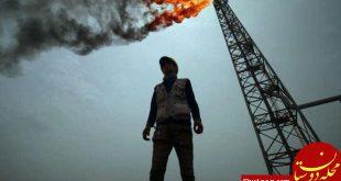 آتش سوزی در میدان نفتی عراق