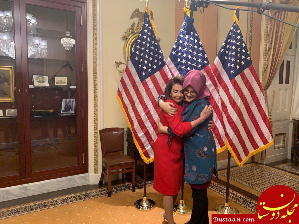 www.dustaan.com خدیجه چنگیز، نامزد جمال خاشقجی در کنار رئیس مجلس نمایندگان آمریکا +عکس
