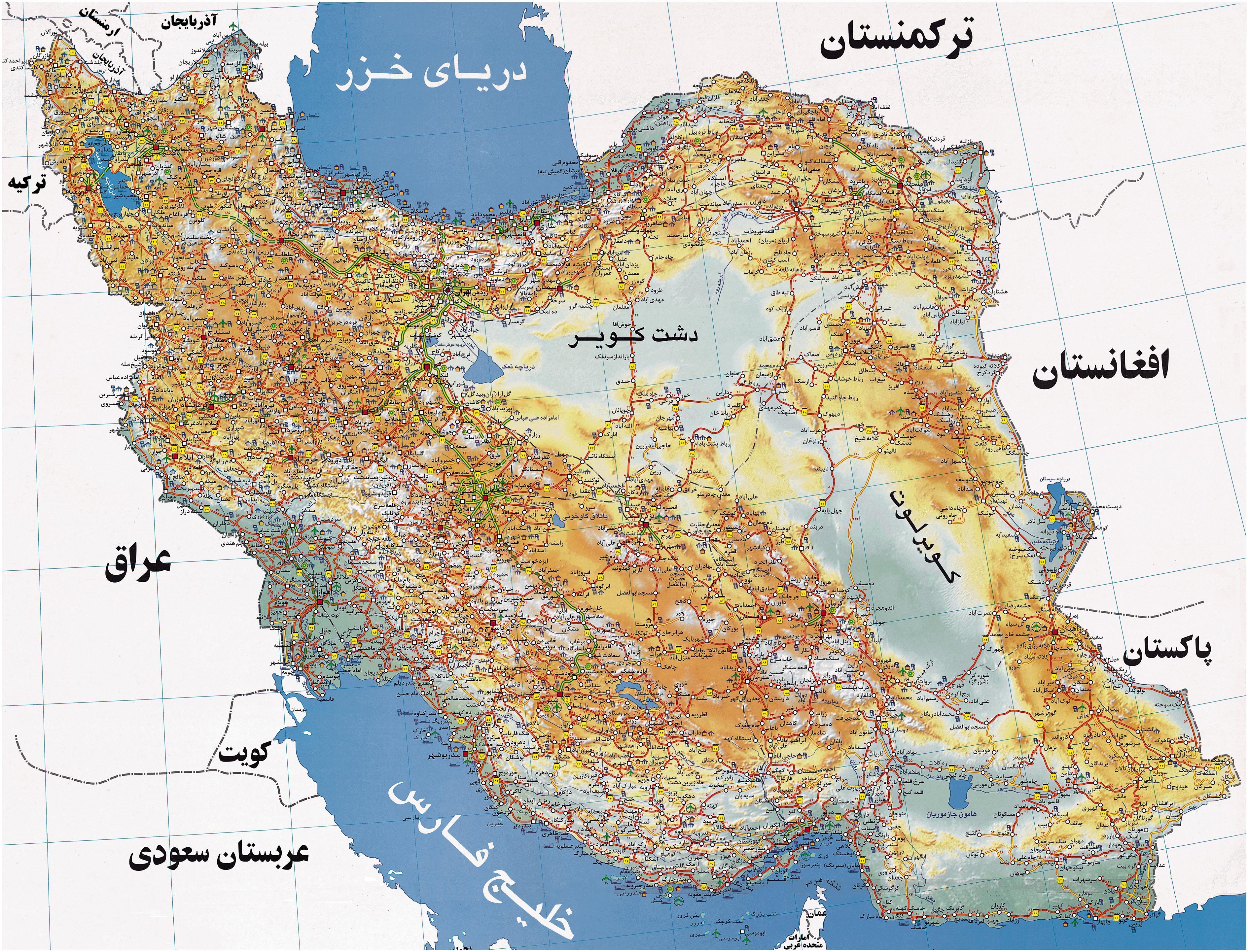 www.dustaan.com نقشه ایران / دانلود نقشه آفلاین راه های ایران با کیفیت بالا