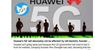 هوآوی در فناوری 5G دو سه سالی از آمریکا جلوتر است