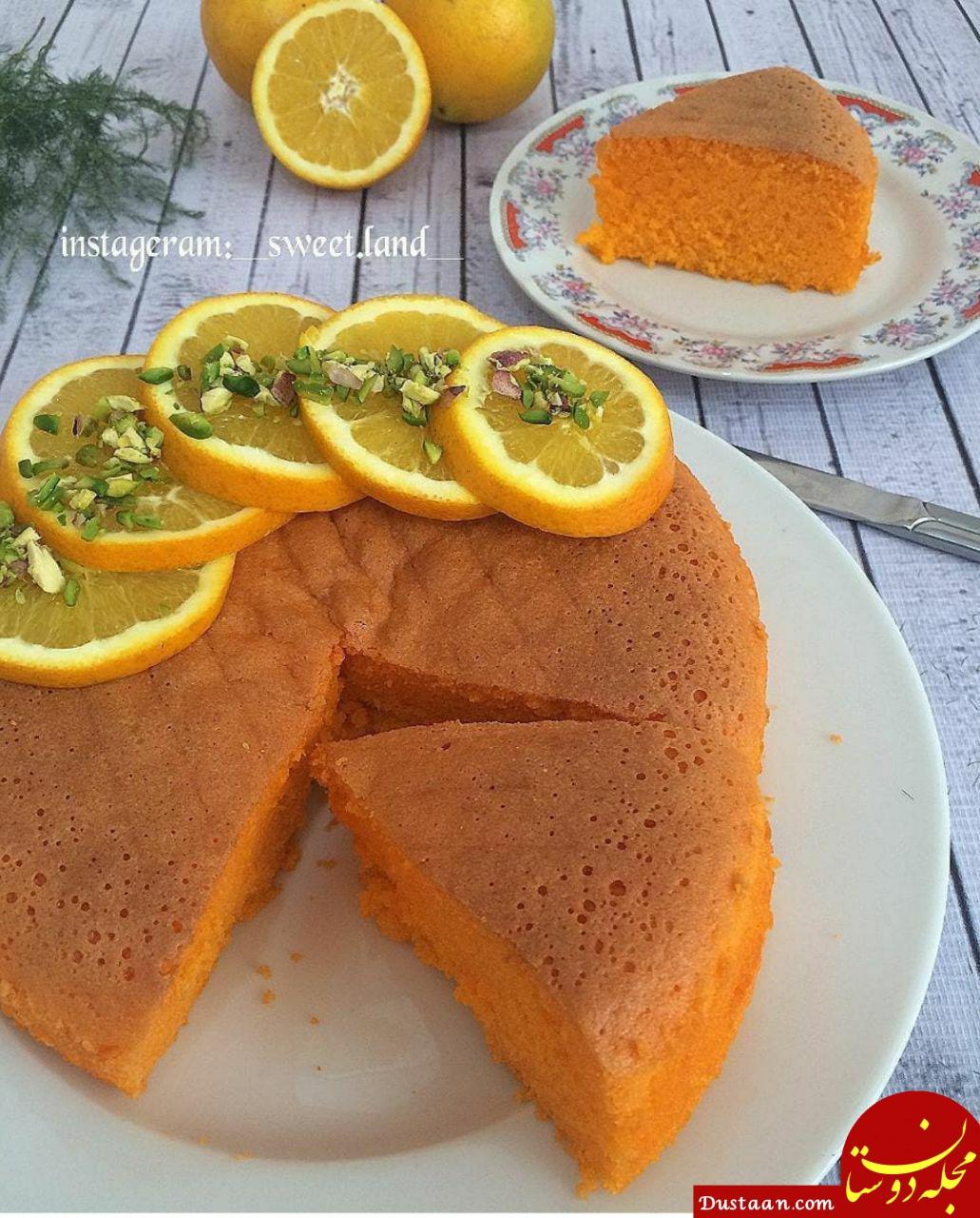 طرز تهیه کیک ژله ای پرتقالی به سبکی خوشمزه