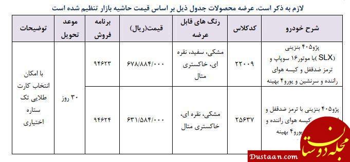 www.dustaan.com شرایط فروش فوری دو مدل پژو در ۲۵ اردیبهشت
