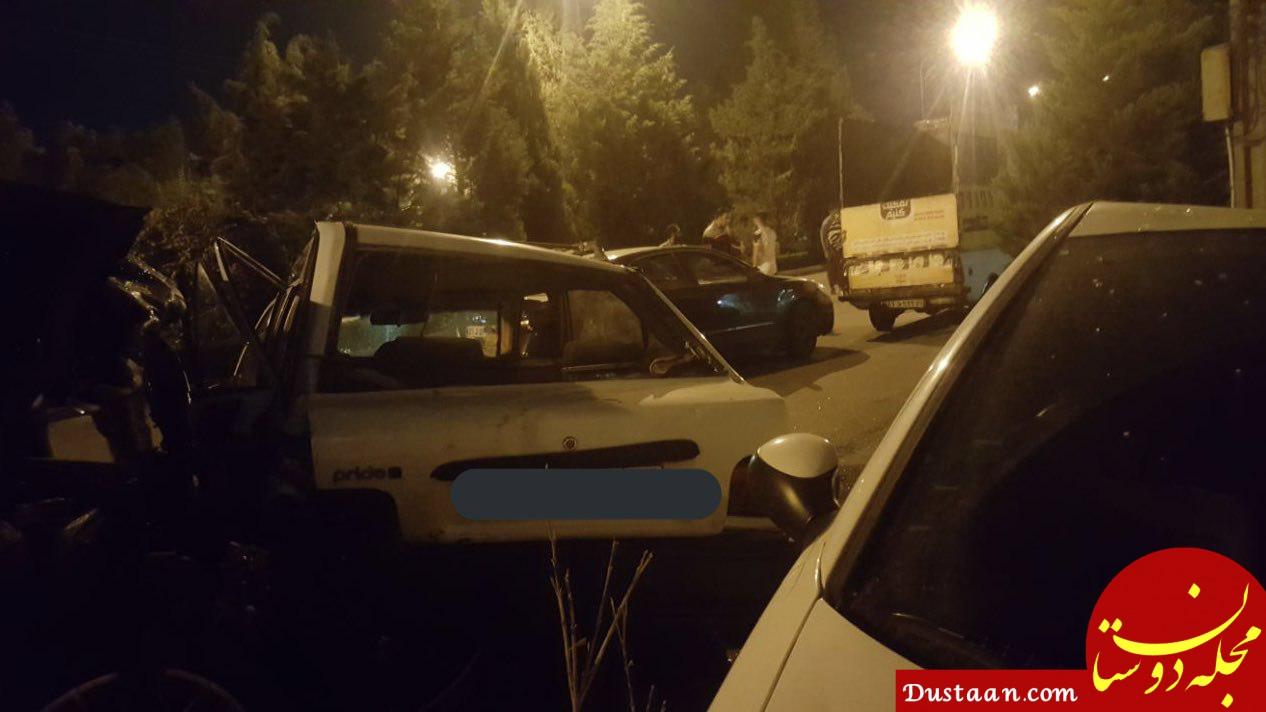 www.dustaan.com کورس مرگبار دختر و پسر لاکچری با پورشه در اصفهان +عکس