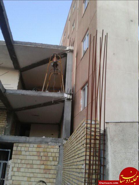 www.dustaan.com ماجرای عجیب و غریب یک ساختمان مسکن مهر! +عکس