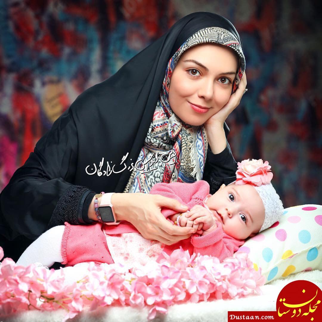 www.dustaan.com مجله اینترنتی فال روزانه حافظ 1558716418 - بیوگرافی و عکس های جذاب آزاده نامداری ، همسرش سجاد عبادی و دخترش گندم