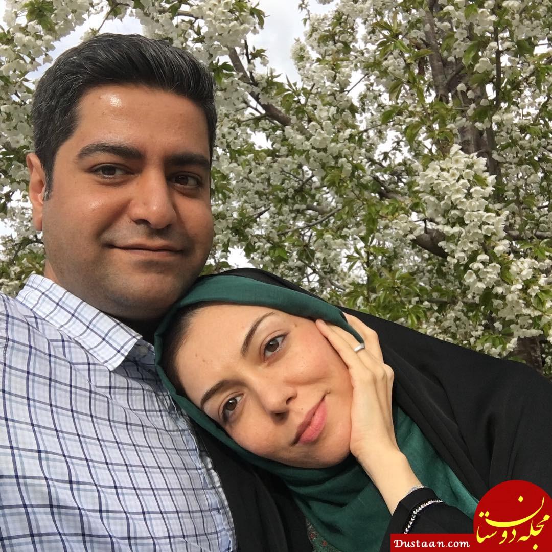 www.dustaan.com مجله اینترنتی فال روزانه حافظ 1558716428 - بیوگرافی و عکس های جذاب آزاده نامداری ، همسرش سجاد عبادی و دخترش گندم