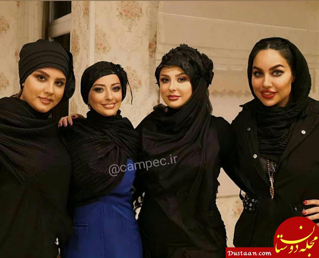 www.dustaan.com عکس دیدنی المیرا عبدی در کنار نیوشا ضیغمی و نفیسه روشن