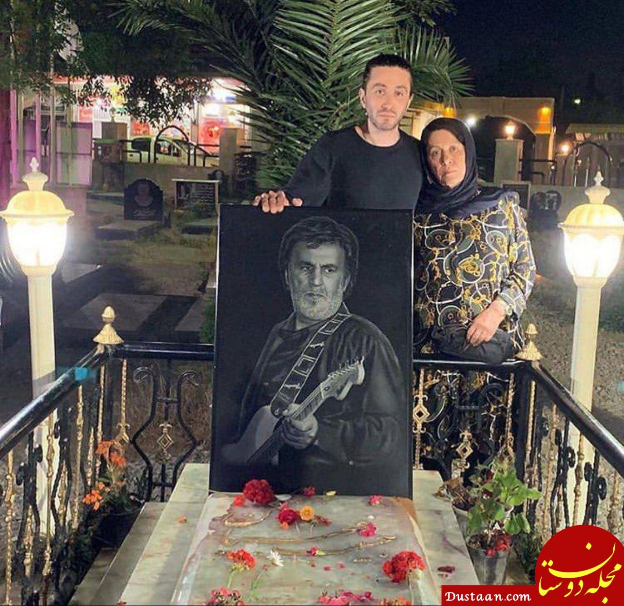 www.dustaan.com پسر و همسر حبیب محبیان در سومین سالگرد درگذشت او