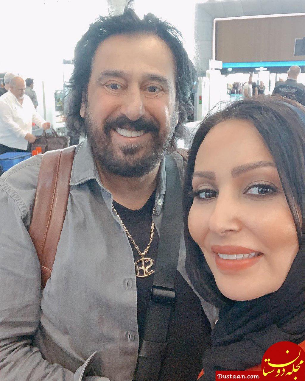 خوشحالی پرستو صالحی بخاطر دیدارش با خواننده لس آنجلسی! +عکس