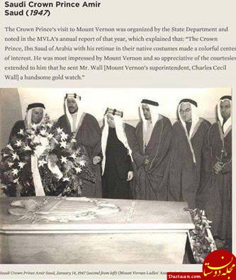 www.dustaan.com ملک عبدالعزیز همراه با ۵ فرزندش بر مزار «جورج واشنگتن»! +عکس