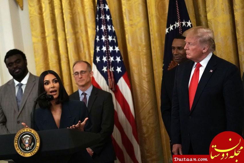 www.dustaan.com نگاهرهای خاص ترامپ به «کیم کارداشیان»! +عکس